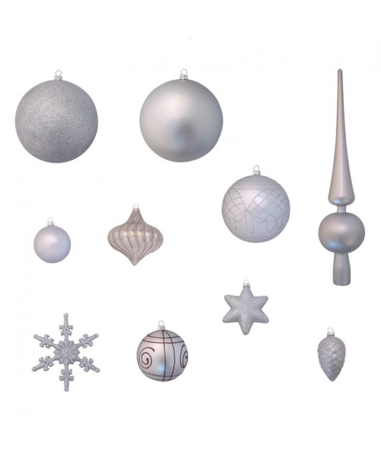 Luxury-Tree-Silver-150cm-Ornaments