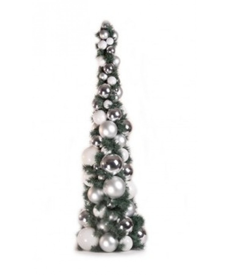 Bauble Tree Bright and Silver 120cm-1083