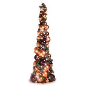 Bauble Tree Warm Copper, Mocha 120cm-0