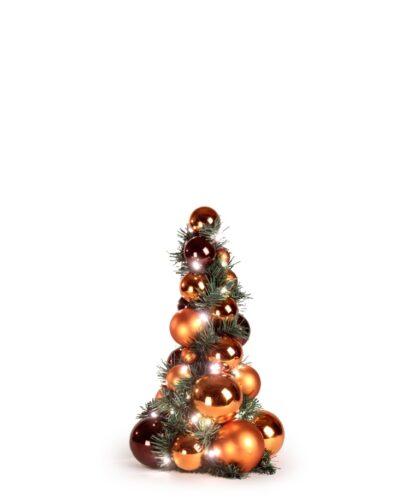 Bauble Tree Warm Copper, Mocha 40cm-0