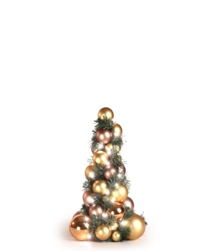 Bauble Tree Golden Mocca 40cm-0