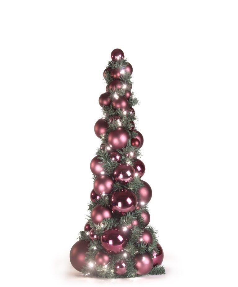 Bauble Tree Purple Milka 80cm-0