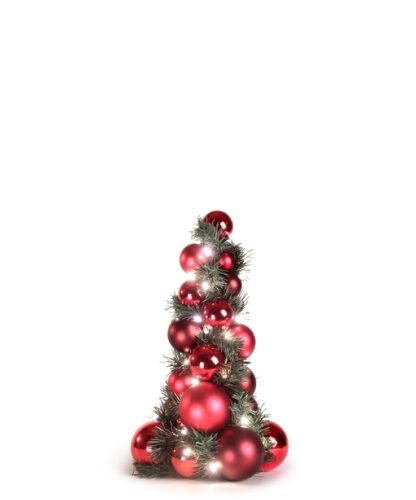 Bauble Tree Warm Bordeaux 40cm-0