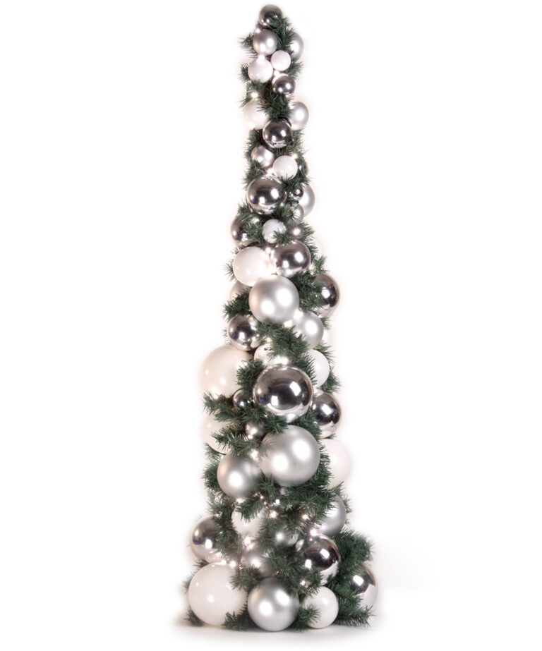 Bauble Tree Bright and Silver 120cm-0