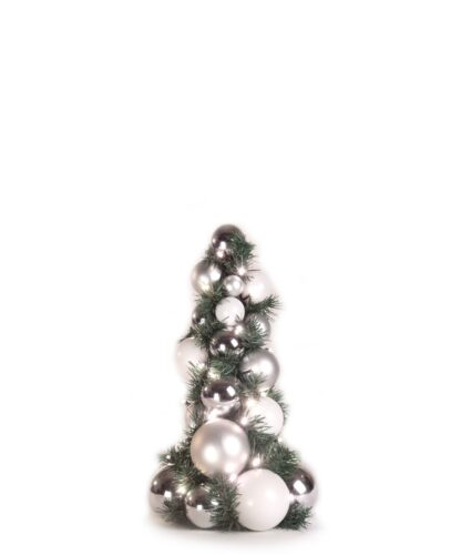 Bauble Tree Bright and Silver 40cm-0