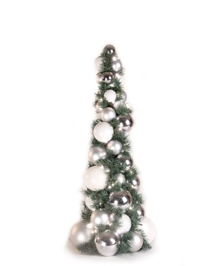 Bauble Tree Bright and Silver 80cm-0