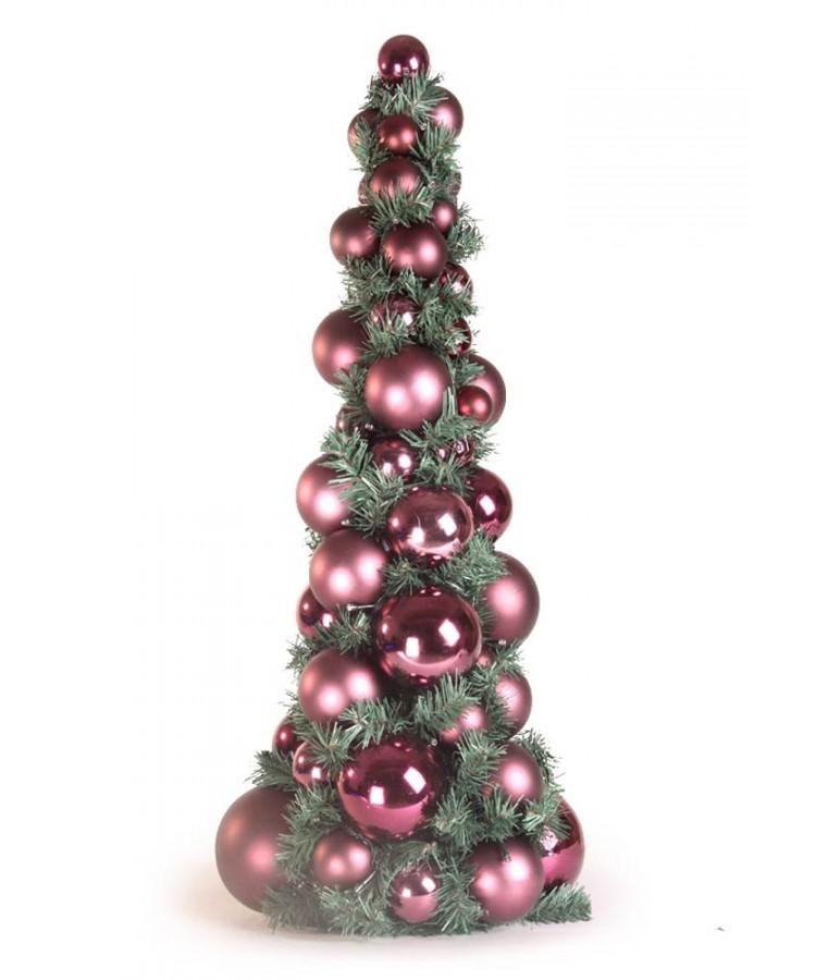 Bauble Tree Purple Milka 80cm-1073