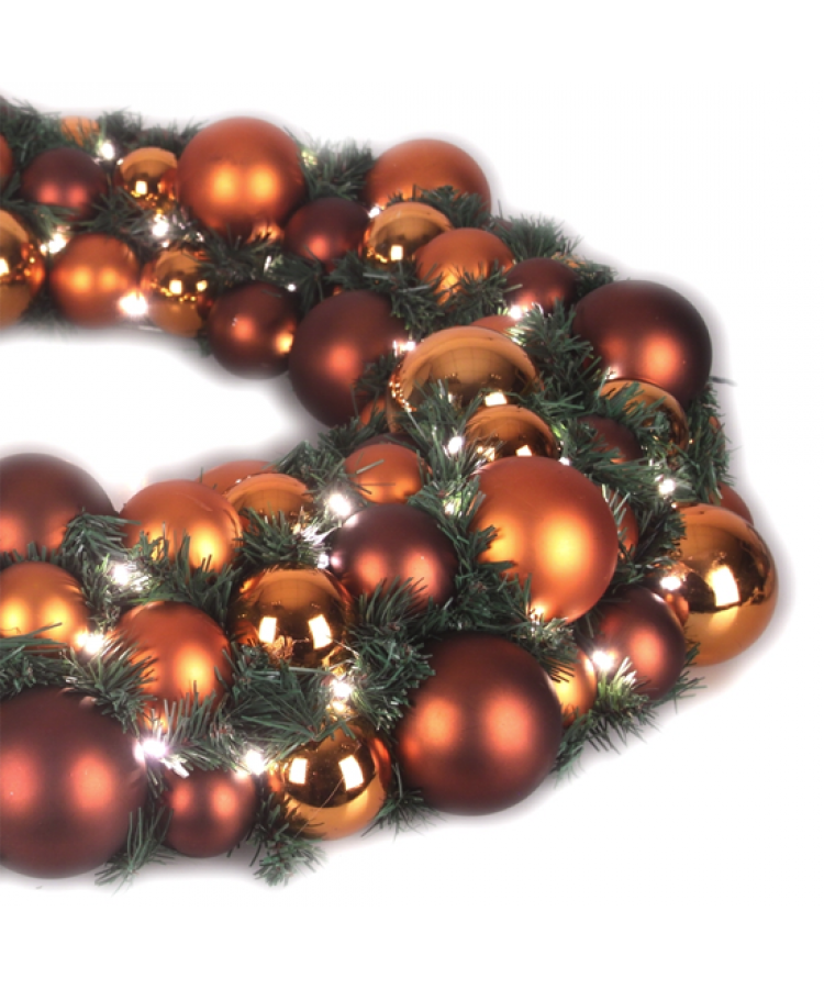 Luxury Wreath Warm Copper 50cm-1272
