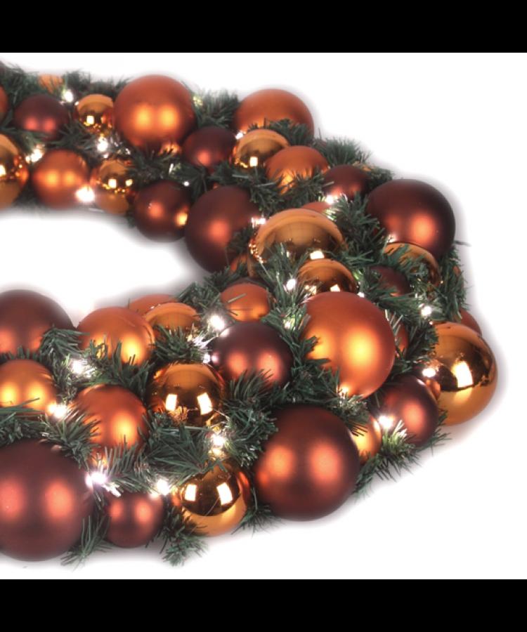Luxury Wreath Warm Copper 75cm-1275