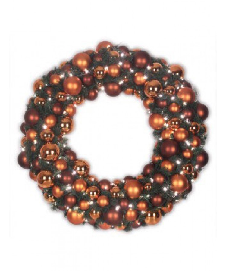 Luxury Wreath Warm Copper 75cm-0