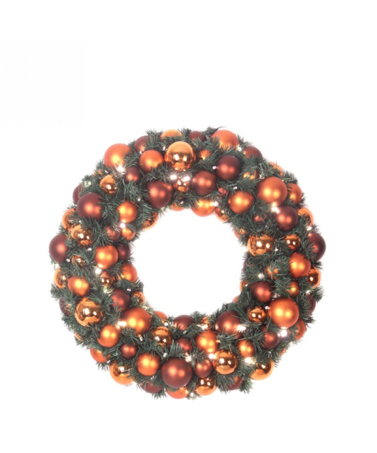 Luxury Wreath Warm Copper 50cm-0