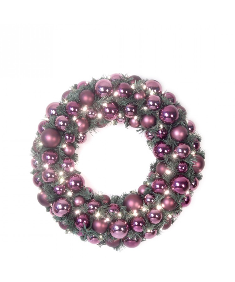 Selection of 8cm Baubles in green tones-1178