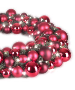 Luxury Wreath Warm Bordeaux 50cm-1277
