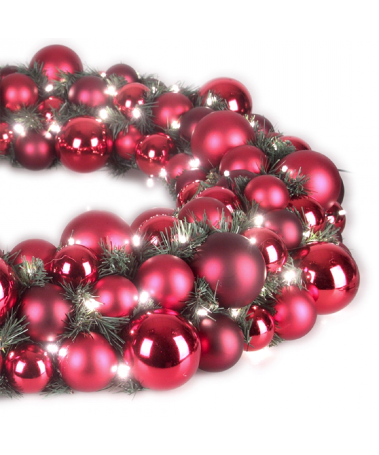 Luxury Wreath Warm Bordeaux 50cm-1277