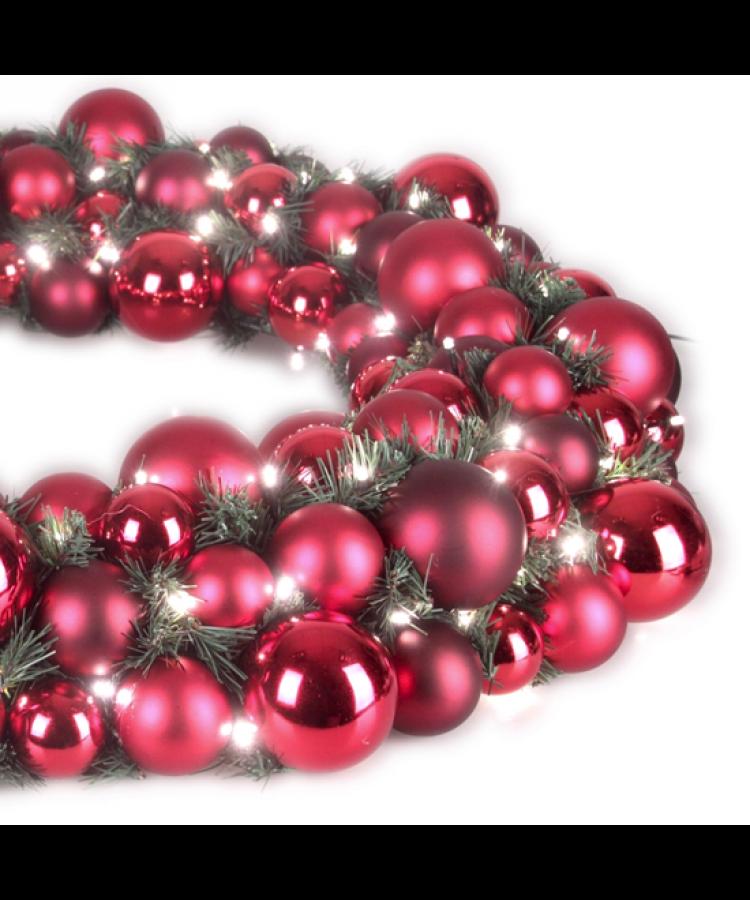 Luxury Wreath Warm Bordeaux 75cm-1278