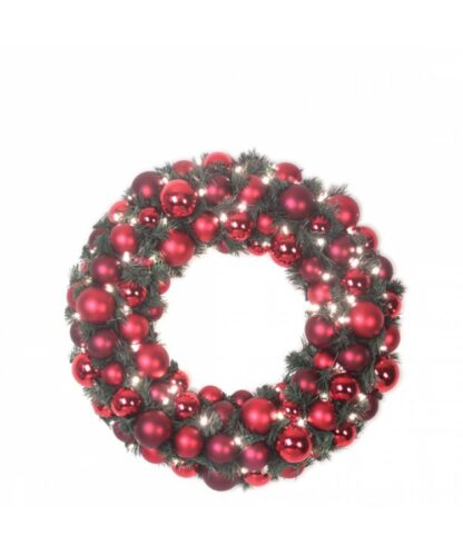 Luxury Wreath Warm Bordeaux 50cm-0
