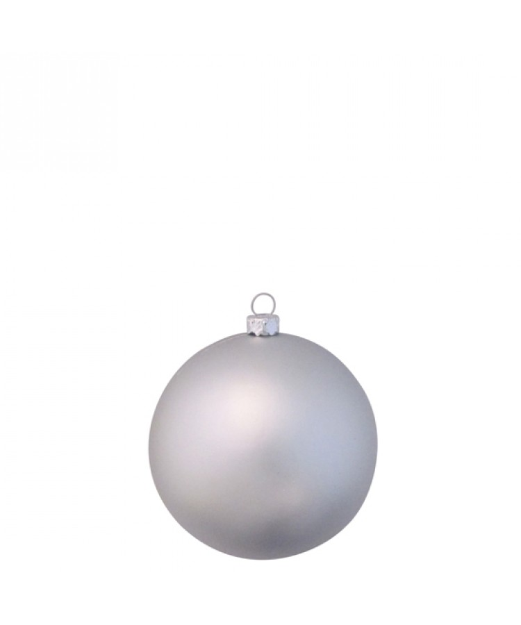 Selection of 8cm Baubles in silver tones-1170