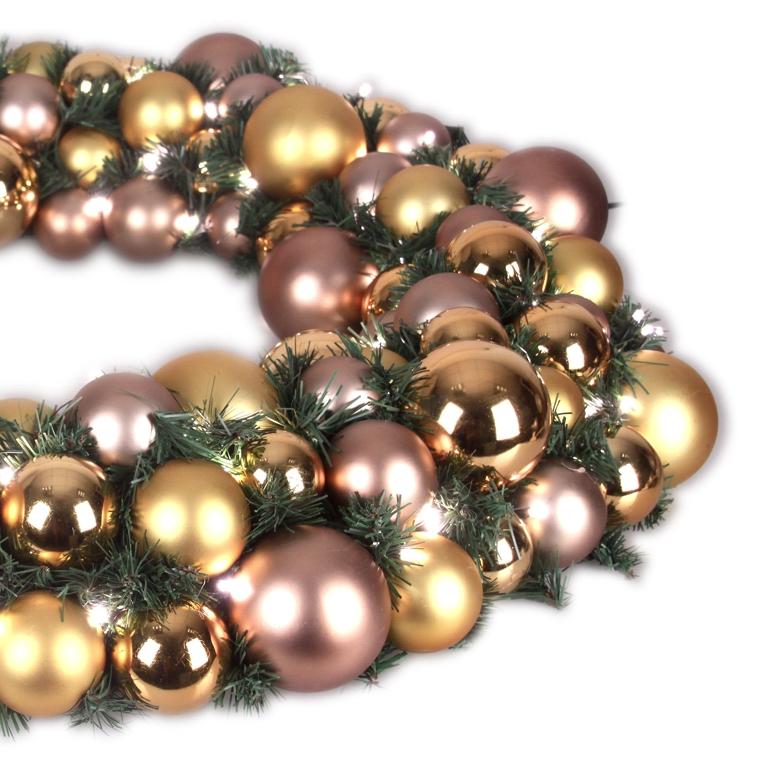 Luxury Wreath Golden Mocca 75 cm-1536